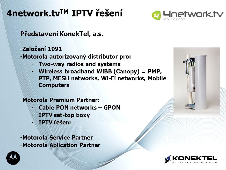 4network.tvTM IPTV řešení