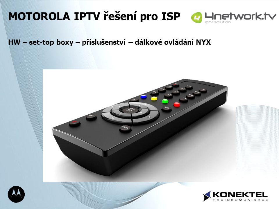 MOTOROLA IPTV řešení pro ISP