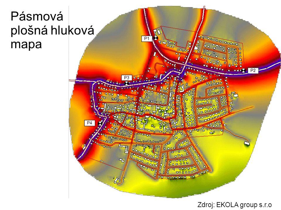 Pásmová plošná hluková mapa