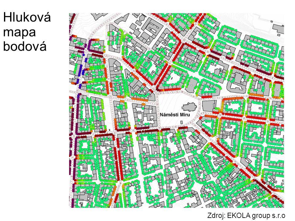 Hluková mapa bodová Zdroj: EKOLA group s.r.o