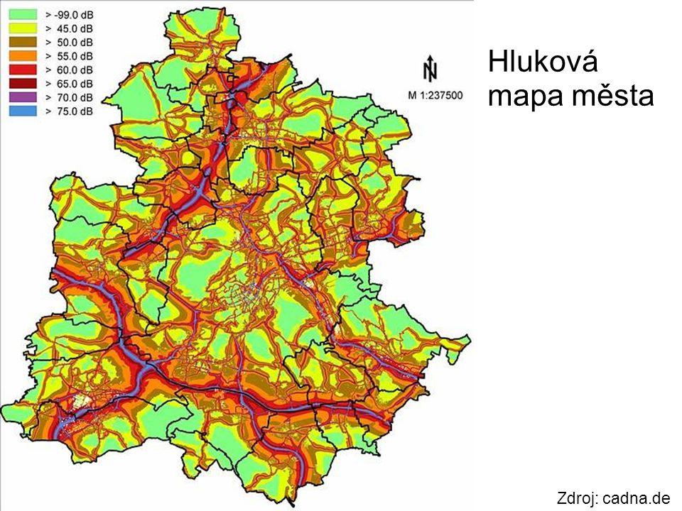 Hluková mapa města Zdroj: cadna.de