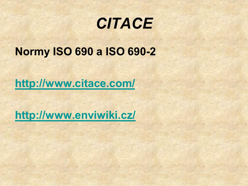 CITACE Normy ISO 690 a ISO 690-2 http://www.citace.com/