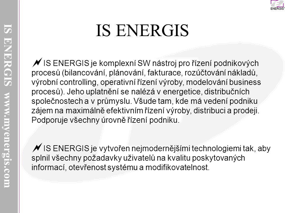 IS ENERGIS IS ENERGIS www.myenergis.com IS ENERGIS