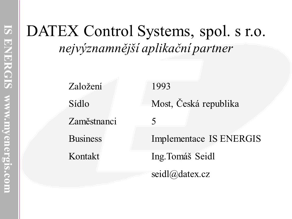 DATEX Control Systems, spol. s r.o.