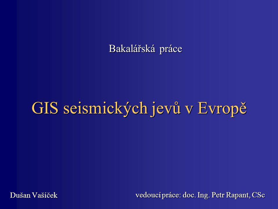 GIS seismických jevů v Evropě