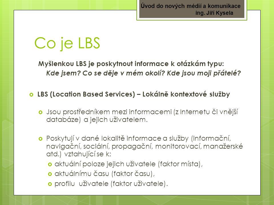 Co je LBS Myšlenkou LBS je poskytnout informace k otázkám typu: