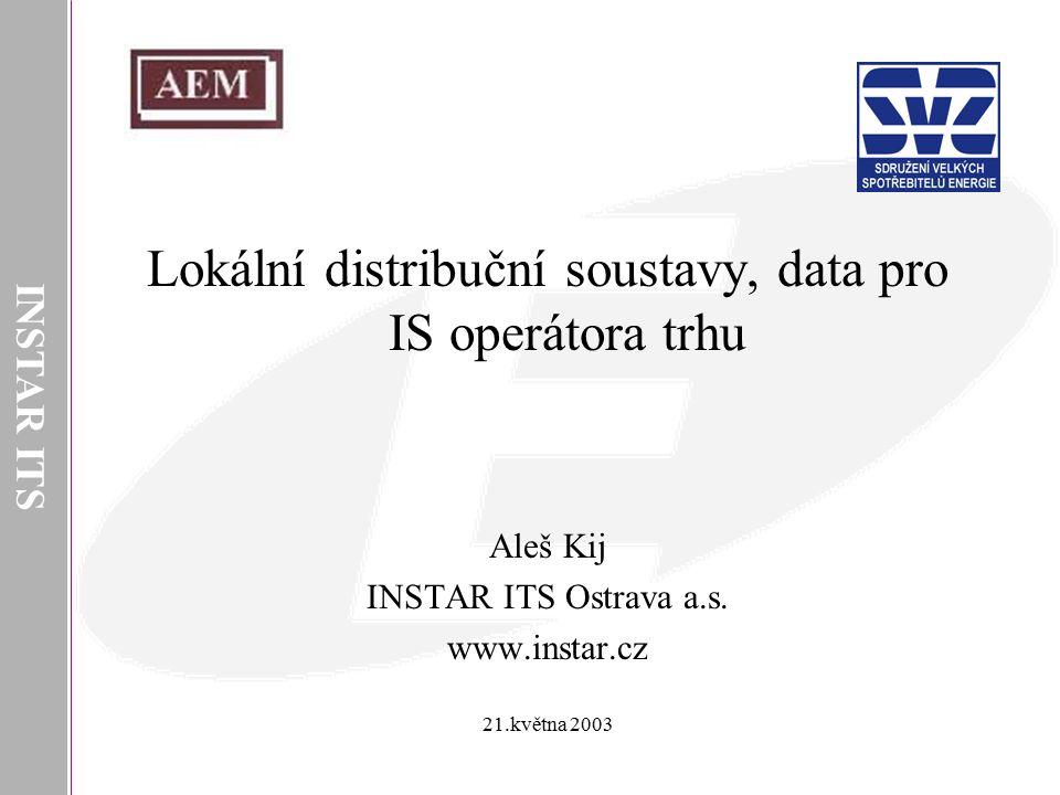Lokální distribuční soustavy, data pro IS operátora trhu