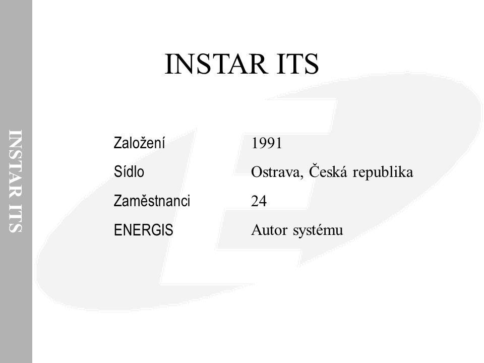 INSTAR ITS INSTAR ITS Založení Sídlo Zaměstnanci ENERGIS 1991