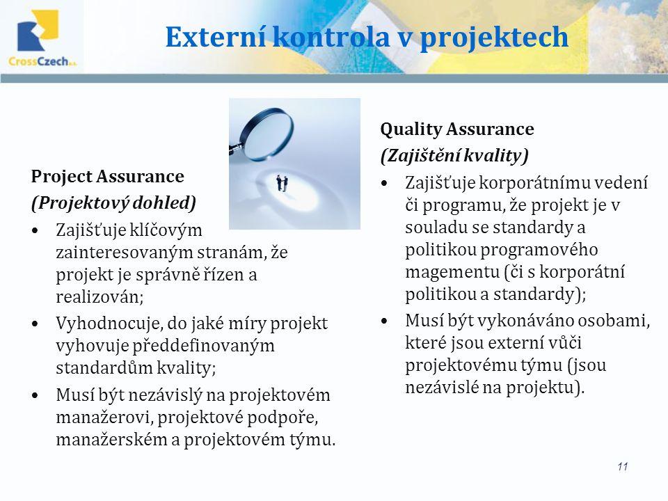 Externí kontrola v projektech