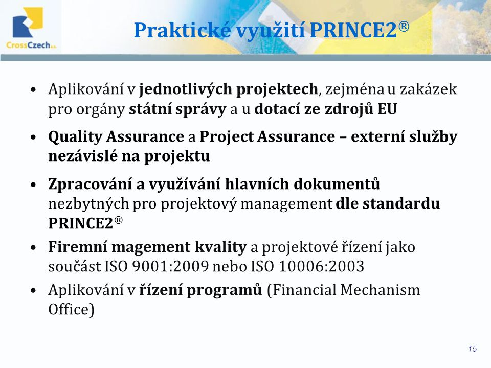 Praktické využití PRINCE2®