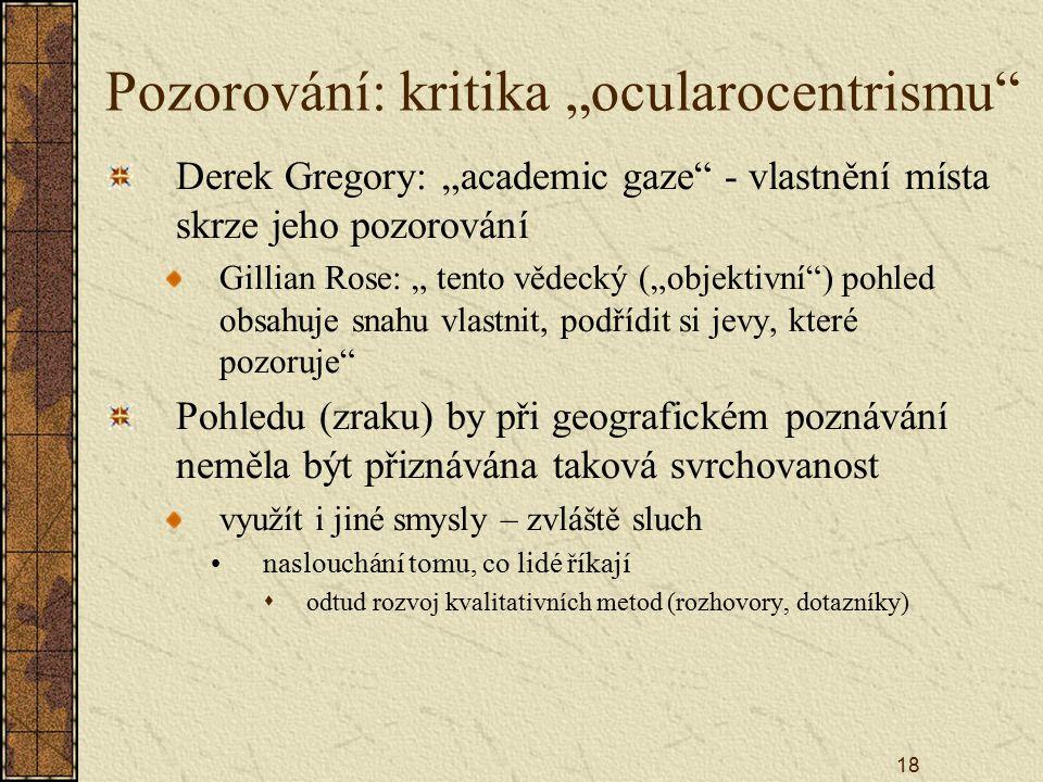 """Pozorování: kritika """"ocularocentrismu"""