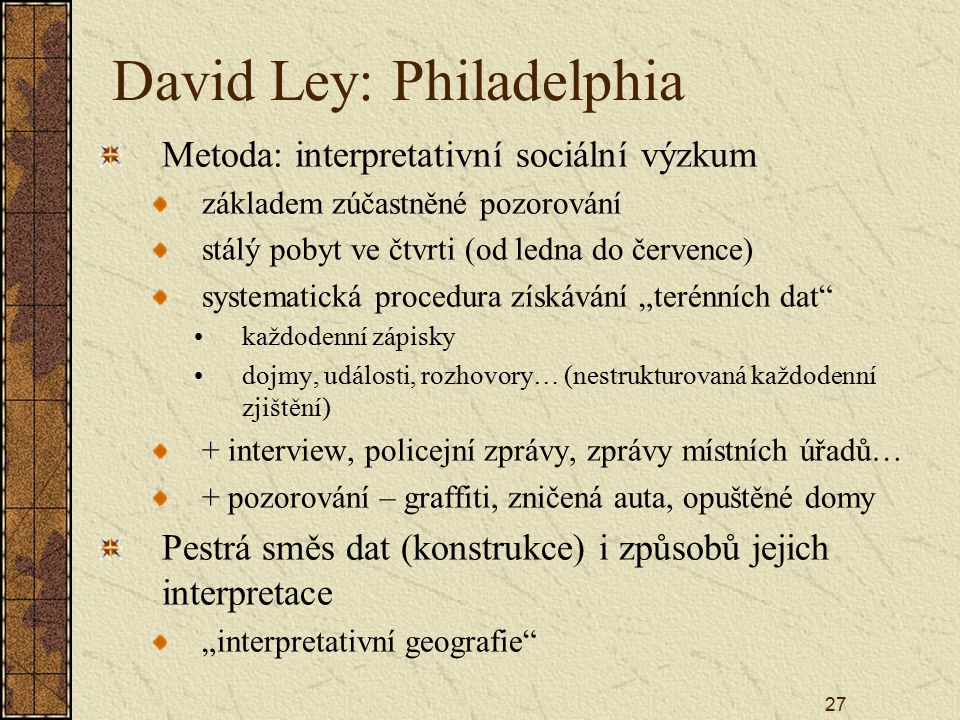 David Ley: Philadelphia