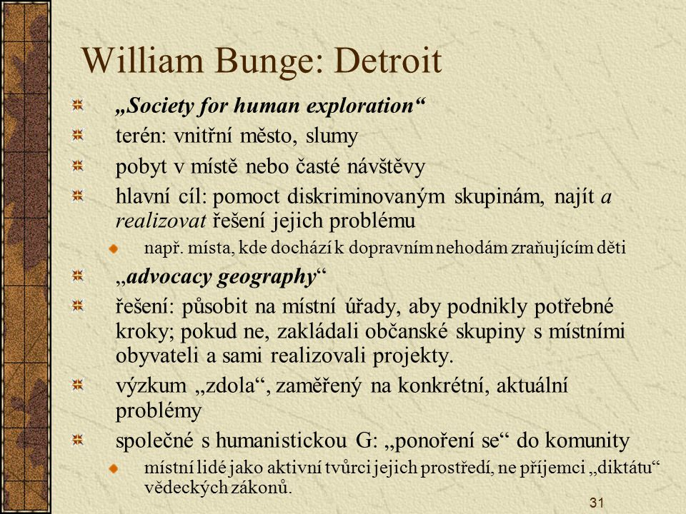 William Bunge: Detroit