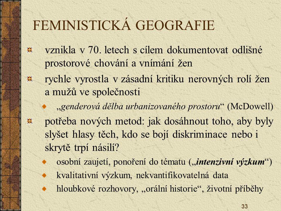 FEMINISTICKÁ GEOGRAFIE