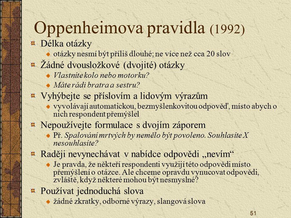 Oppenheimova pravidla (1992)