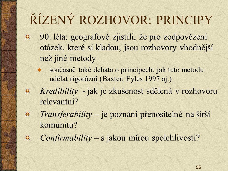 ŘÍZENÝ ROZHOVOR: PRINCIPY