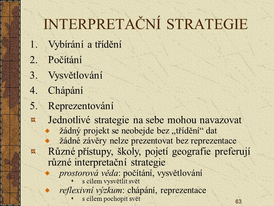 INTERPRETAČNÍ STRATEGIE