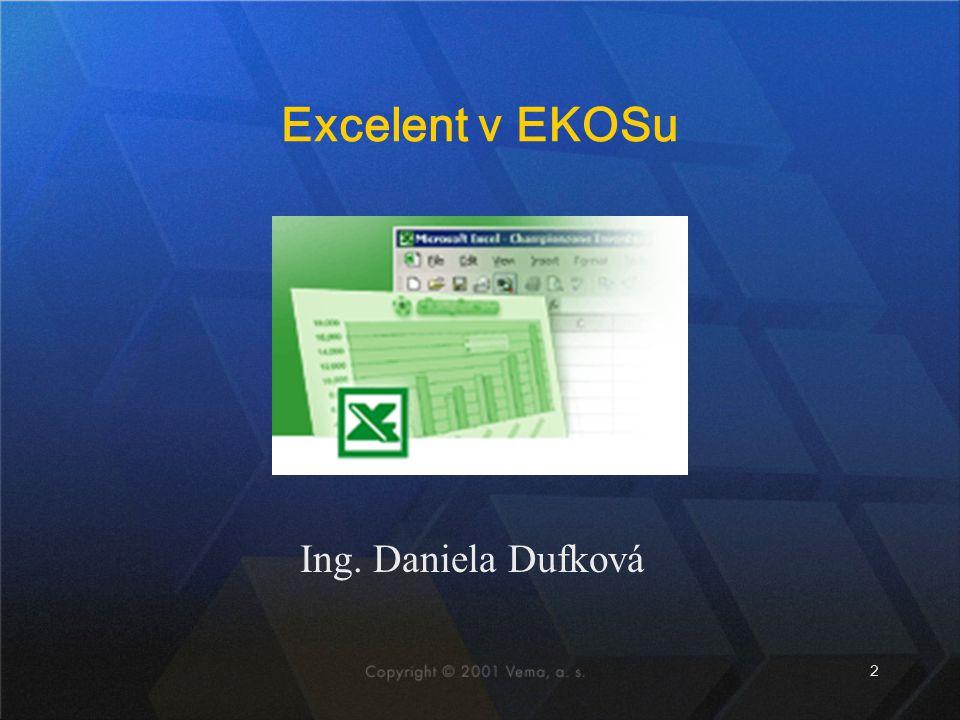 Excelent v EKOSu Ing. Daniela Dufková