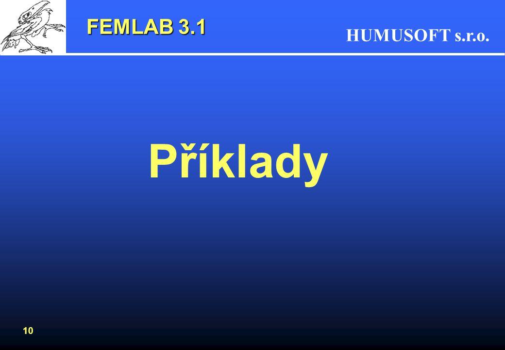 FEMLAB 3.1 Příklady