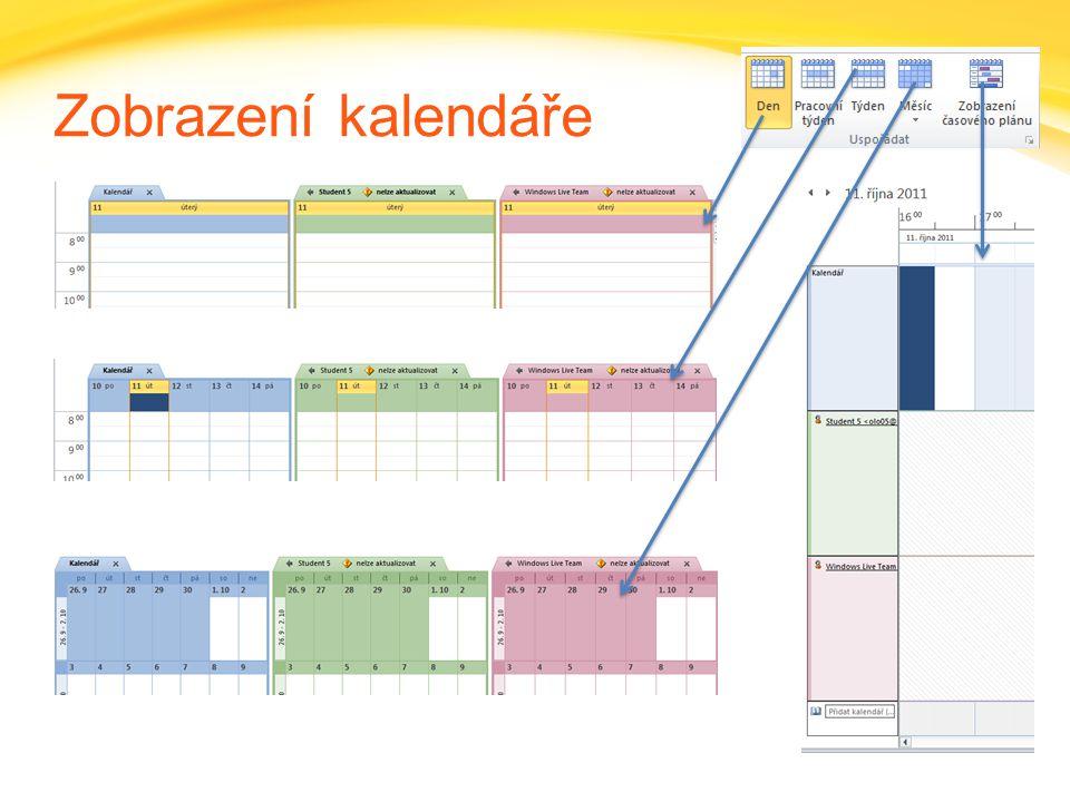 Zobrazení kalendáře
