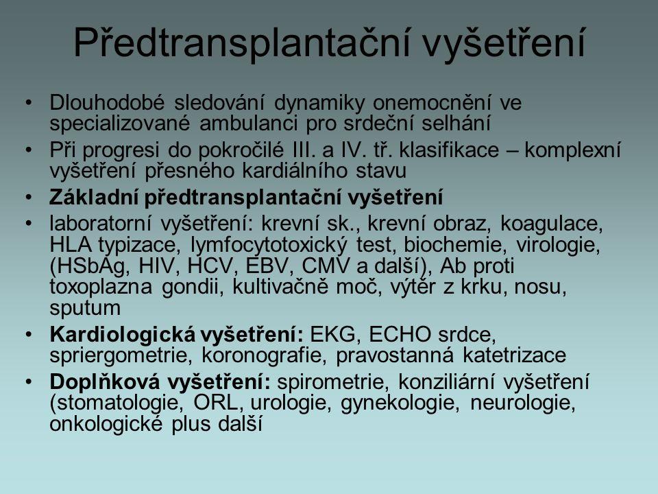 Předtransplantační vyšetření