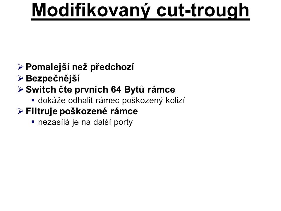 Modifikovaný cut-trough