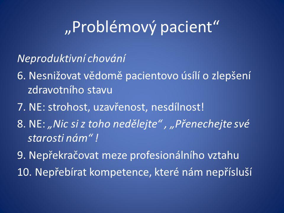 """""""Problémový pacient"""