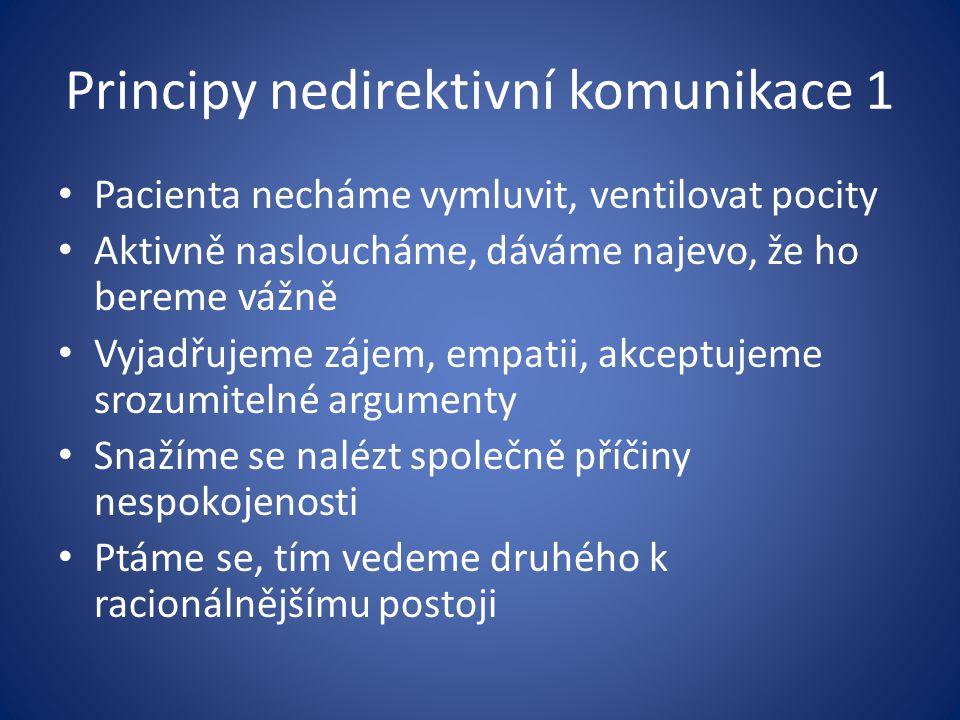 Principy nedirektivní komunikace 1