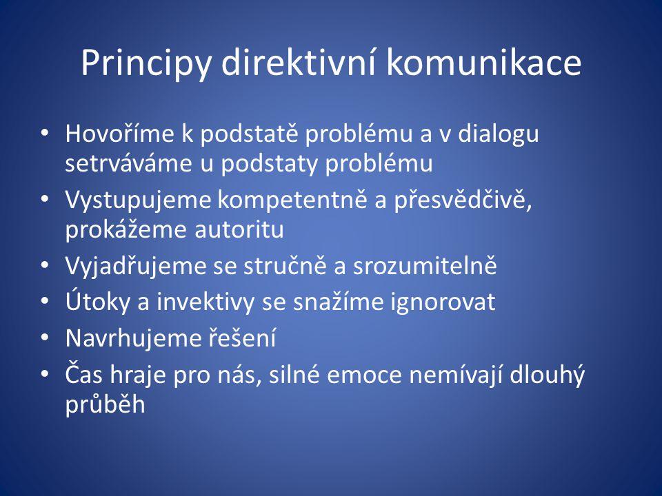 Principy direktivní komunikace