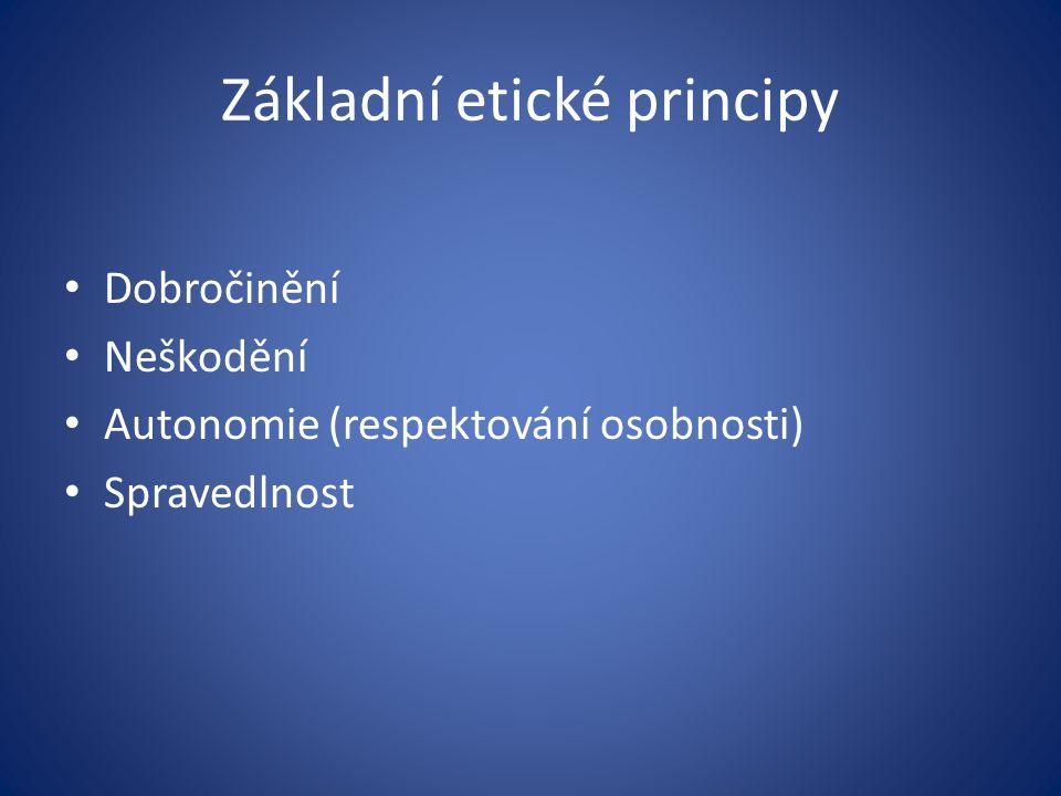 Základní etické principy
