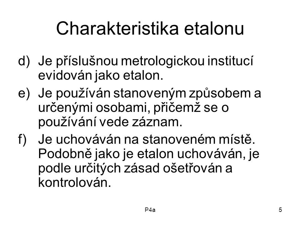 Charakteristika etalonu
