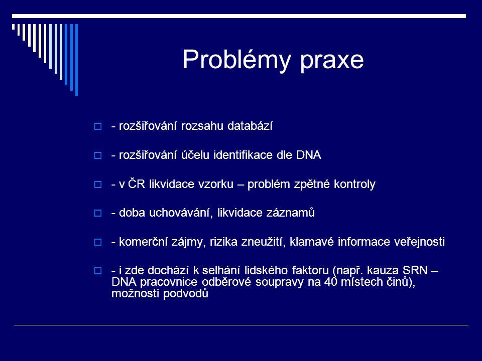 Problémy praxe - rozšiřování rozsahu databází