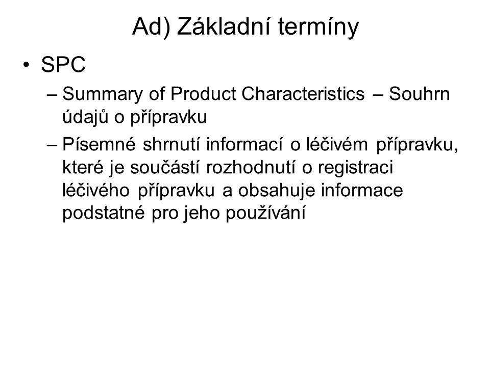 Ad) Základní termíny SPC