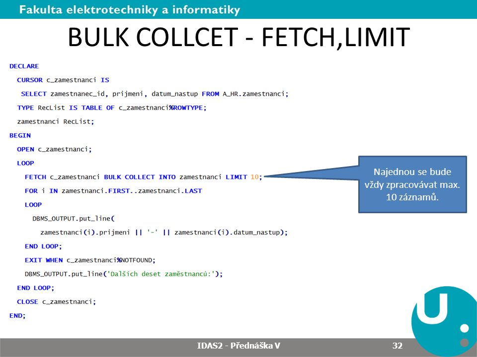 BULK COLLCET - FETCH,LIMIT