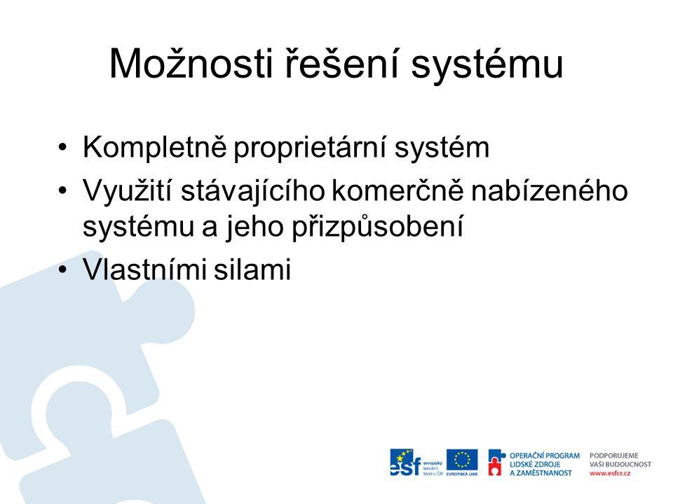 Možnosti řešení systému