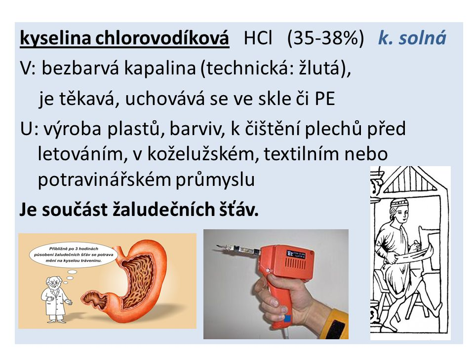 kyselina chlorovodíková HCl (35-38%) k