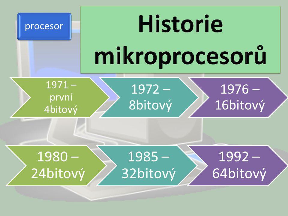 Historie mikroprocesorů