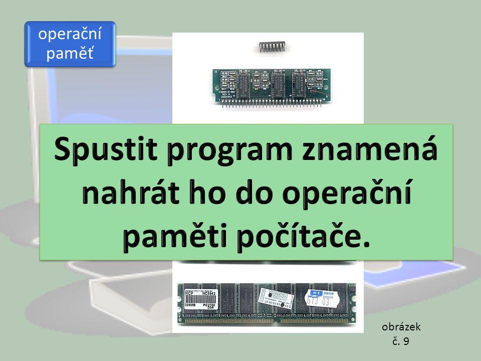 Spustit program znamená nahrát ho do operační paměti počítače.