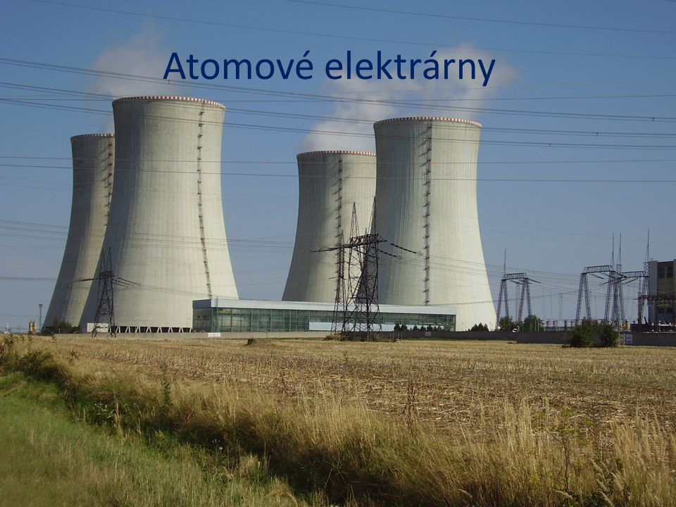 Atomové elektrárny