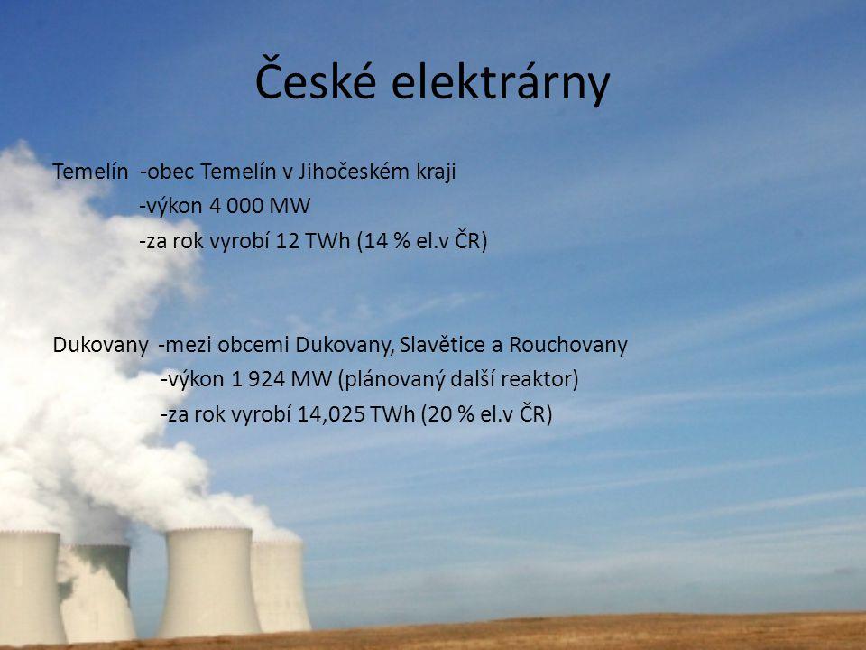České elektrárny