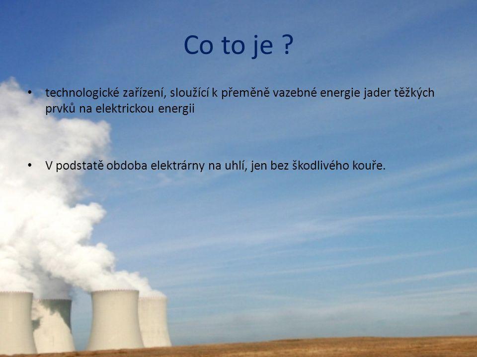 Co to je technologické zařízení, sloužící k přeměně vazebné energie jader těžkých prvků na elektrickou energii.