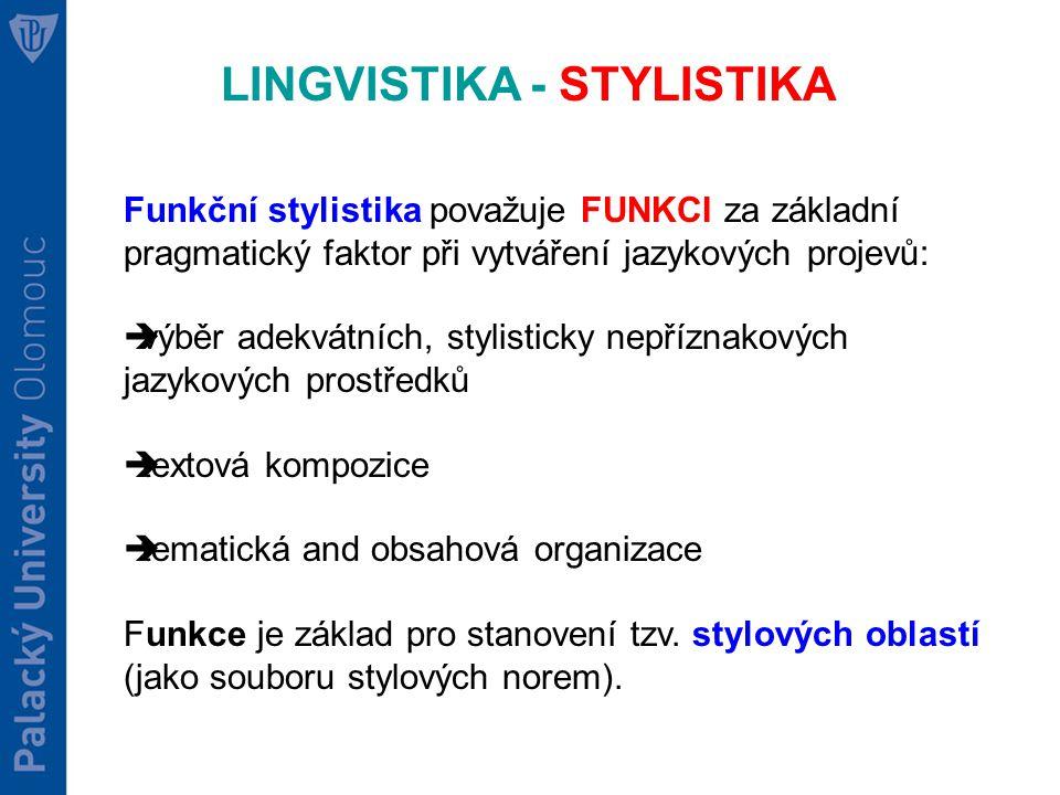 LINGVISTIKA - STYLISTIKA