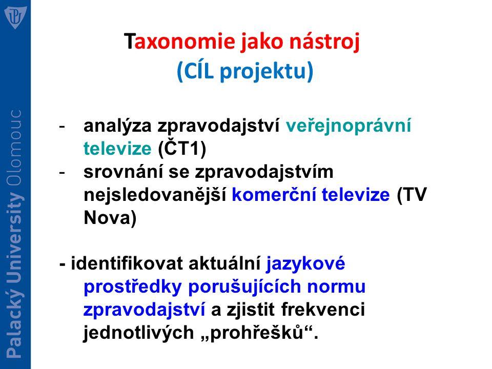 Taxonomie jako nástroj