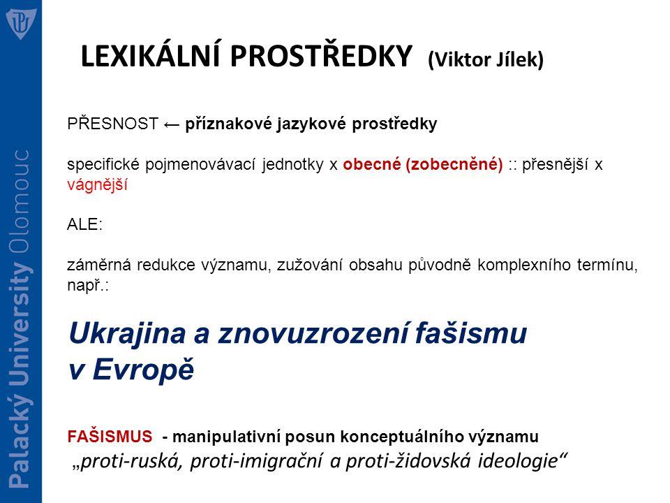LEXIKÁLNÍ PROSTŘEDKY (Viktor Jílek)