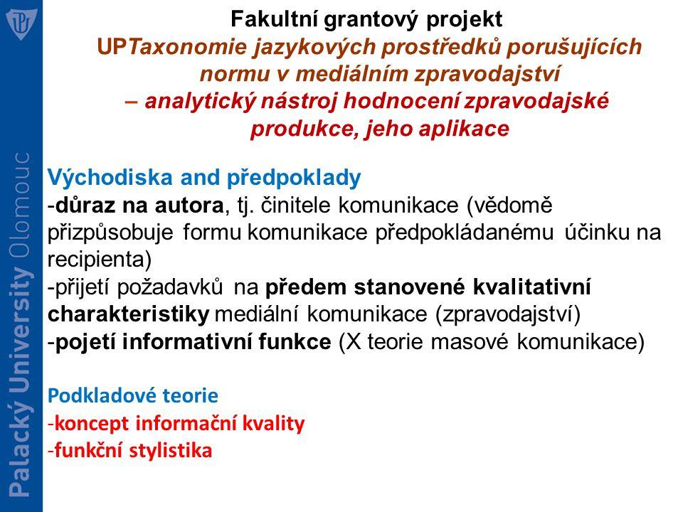 Fakultní grantový projekt