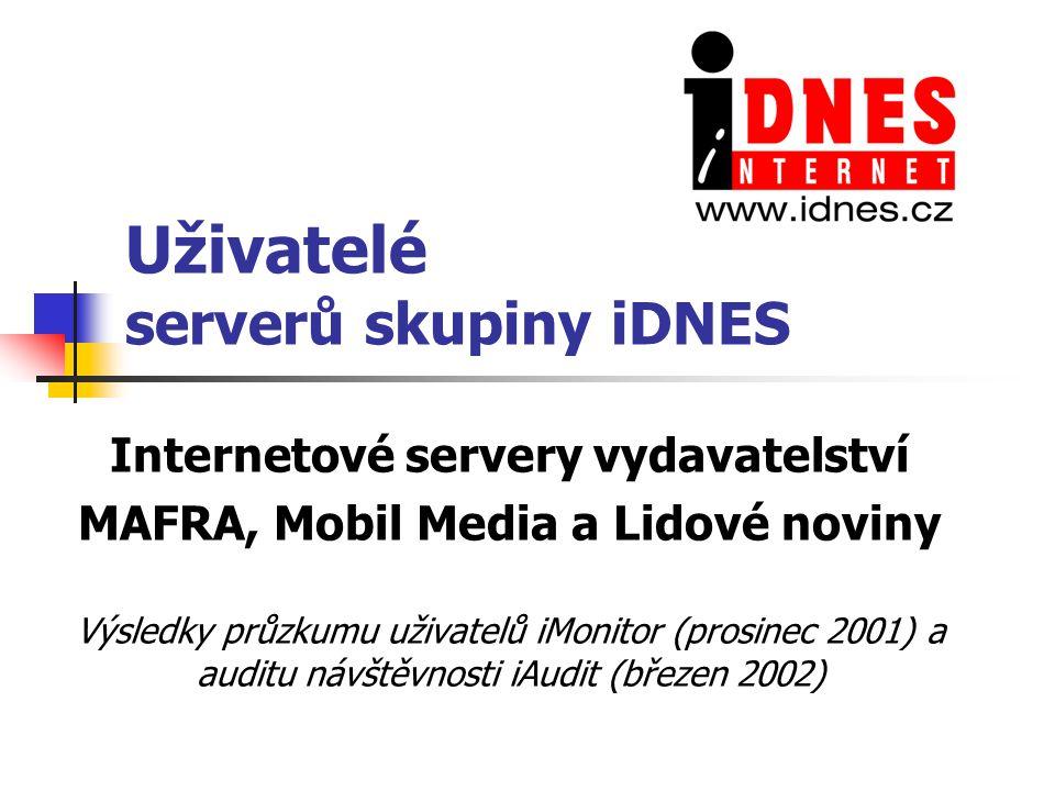 Uživatelé serverů skupiny iDNES