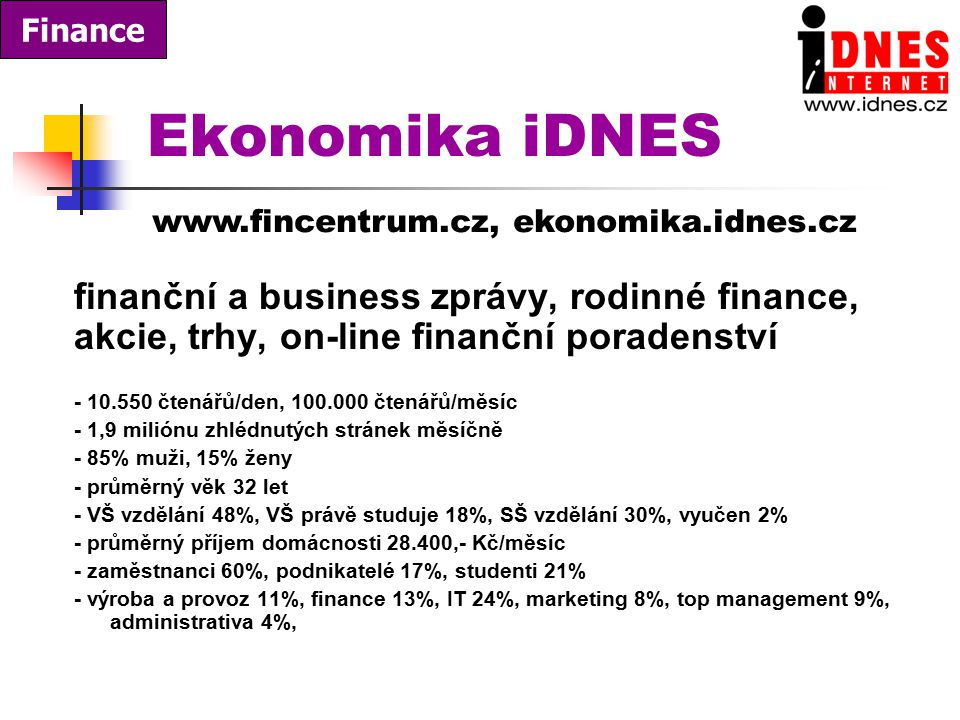Ekonomika iDNES finanční a business zprávy, rodinné finance,