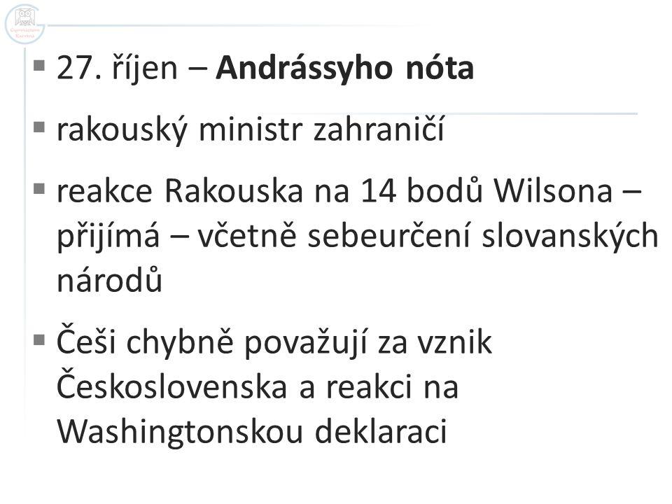 27. říjen – Andrássyho nóta