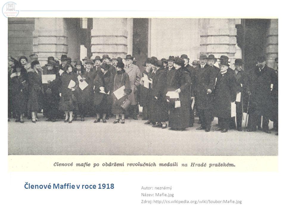 Členové Maffie v roce 1918 Autor: neznámý Název: Mafie.jpg