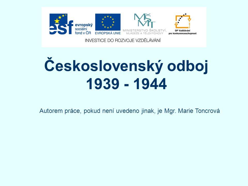 Československý odboj 1939 - 1944